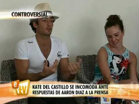 Aarón Díaz incomodó a Kate del Castillo con su respuesta
