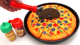 Toy Velcro Cutting Pizza Ice Cream Learn Fruits & Vegetables Toy Surprise