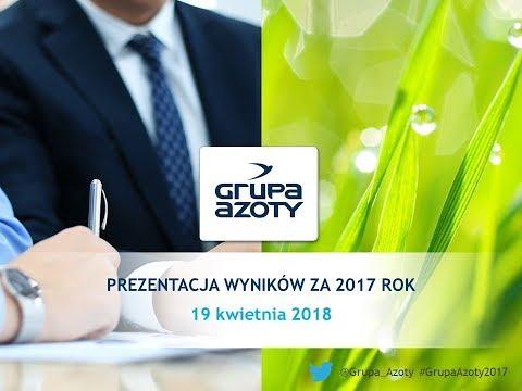 Grupa Azoty - Prezentacja wyników finansowych za rok 2017 - zdjęcie