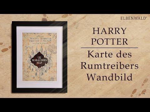 Die Karte des Rumtreibers als magisches Wandbild – Harry Potter