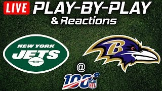 Jets vs Ravens | Live Play-By-Play & Reactions