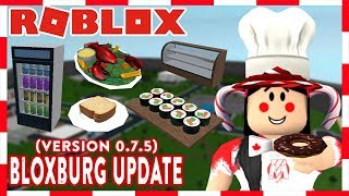 ROBLOX | BLOXBURG UPDATE 0.7.5: FOOD, STOVES, FRYERS, AND DISPLAY CASES!