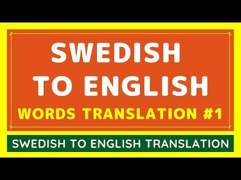 Swedish To English BASIC WORDS Translation From Google #1 | Translate Swedish Language To English