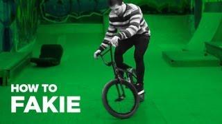 Как сделать фэйки на BMX (How to Fakie BMX)