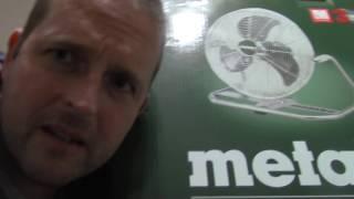 18 Volt Metabo Metal Fan!
