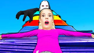 We Made a Giant Gymnastics Fort! (Hide and Seek w/ RZ Twin to Find Game Master Truth) Rebecca Zamolo