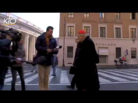 Le Cardinal Vingt-Trois, en route pour le Conclave