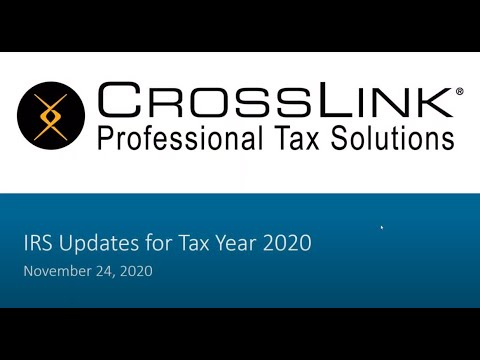 IRS Updates for Tax Year 2020 (11.24.20 Update) - YouTube