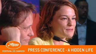 HIDDEN LIFE   Press Conference   Cannes 2019   EV