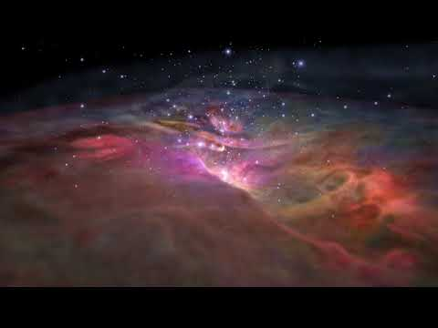 Flight Through Orion Nebula in Visible and Infrared Light