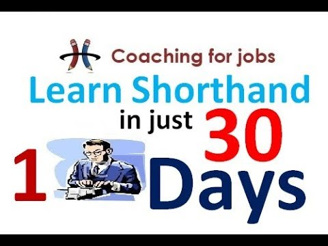 Learn Shorthand/Stenography in just 30 Days Chapter -1