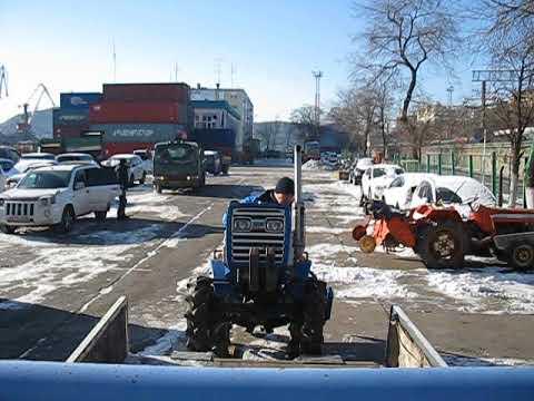 погрузка трактора в грузовик, ISEKI TU1600 www.jpstyle.ru