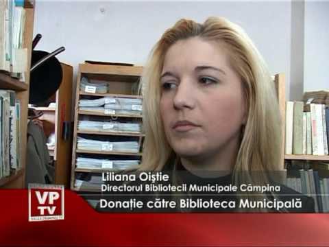 Donaţie către Biblioteca Municipală