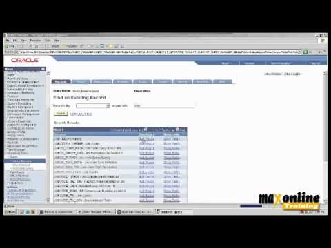 Peoplesoft HRMS Tutorial | Peoplesoft HRMS Training | Max Online ...