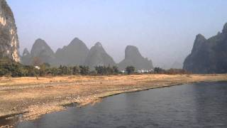 Video : China : Li River 漓江 scenes : YangShuo to GuiLin