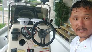 Connecting my BOSS radio in my Boat! Check it out!!!