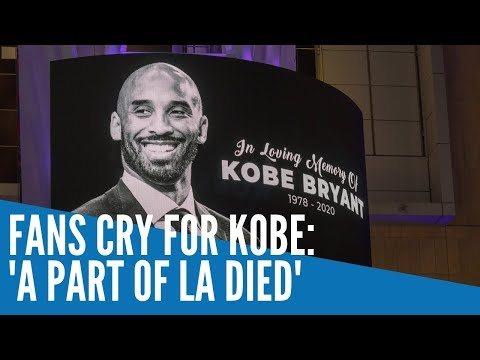 [Inquirer]  Fans cry for Kobe: 'A part of LA died'