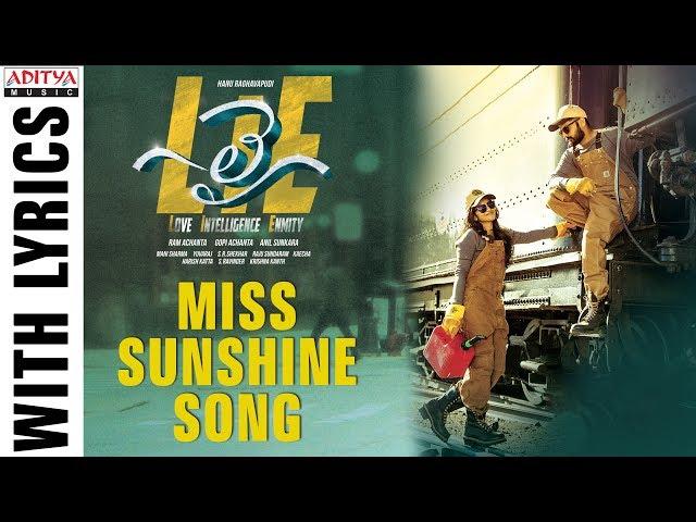 Miss Sunshine Video Song | Lie Movie Songs | Nithiin | Megha Akash | Mani Sharma