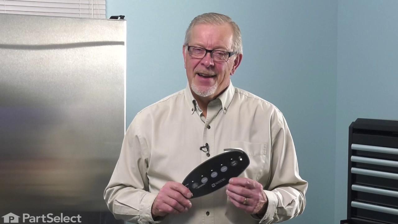 Replacing your Maytag Refrigerator Facade Insert - Black
