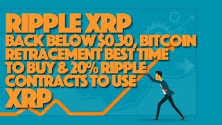 Ripple XRP Back Below $0.30, Bitcoin Retracement Best Time To Buy & 20% Ripple Contracts To Use XRP