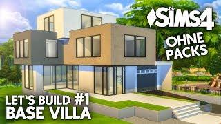 Die Sims 4 Haus bauen ohne Packs | Base Villa #1: Grundriss (deutsch)