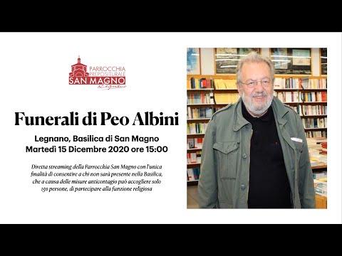 In diretta dalla Basilica di Legnano: funerali di Peo Albini