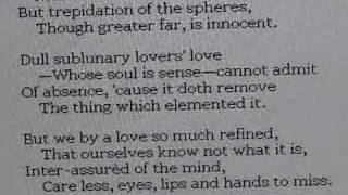 John Donne A Valediction Forbidding Mourning