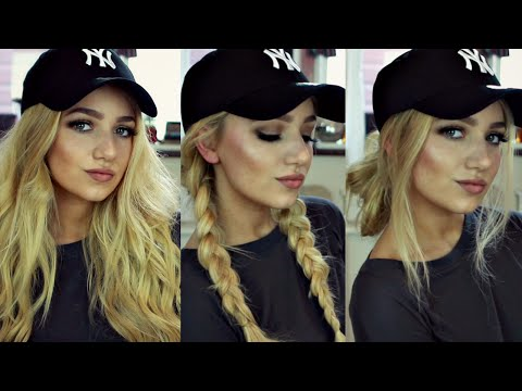 INSTAGRAM 'BADDIE' HAIR TUTORIAL // 3 BASEBALL CAP HAIRSTYLES