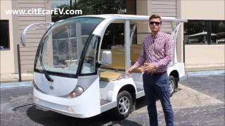 Nine Passenger Electric Shuttle and People Mover From Bintelli Electric Vehicles -