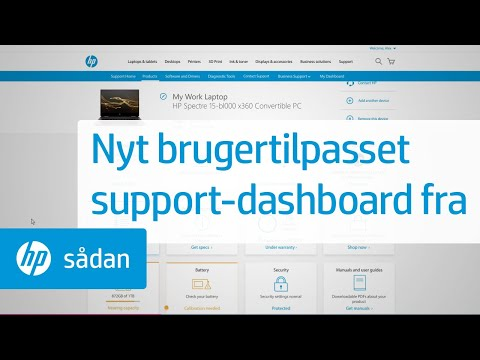Personlig Support Dashboard-oplevelse fra HP Support