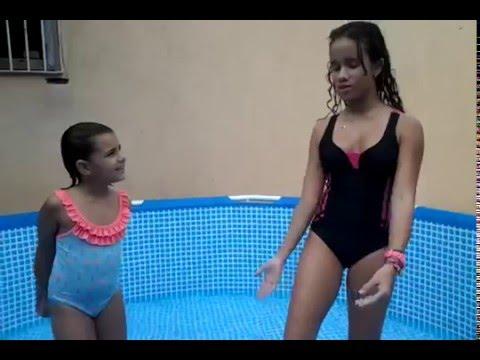 ♥♥Meu 1 desafio da piscina ♥♥