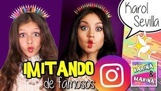🌈 ¡¡IMITANDO El INSTAGRAM!! 💘 De KAROL SEVILLA Y MADDIE ZIEGLER Por Una Semana 🎀 Karina VS Marina