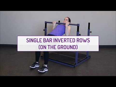 Single Bar Inverted Rows (on the Ground)