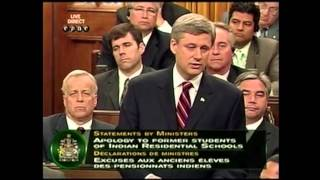 2008 - Prime Minister Harper apologizes to residential school survivors