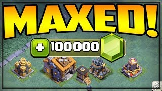 100,000 GEMS Builder Hall 9 Gem To MAX - BH9 Clash of Clans
