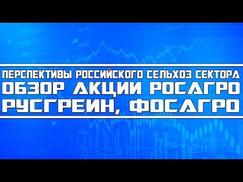 Обзор акций Росагро, Русгрейн и Фосагро. А так же перспективы сельхозсектора России