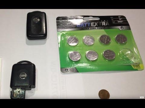 Nissan Micra key battery replacement - Nissan Micra Schlüssel batterie wechseln