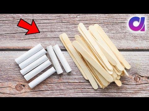 Best use of waste thread spools and Pop sticks crafts idea | Room decor 2019 | Artkala
