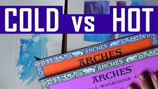 Watercolor Paper - Arches Rough VS Hot Pressed (Arches Hot Press Review & Demo) - Tools #3