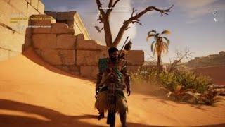 Vautour qui fait du sur place dans Assassin's creed Origins.