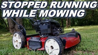 Toro lawnmower stopped working while running. Starts and dies. Hit something hard while mowing.