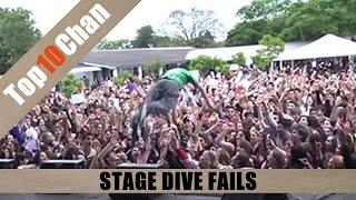 Top 10 Stage Dive Fails