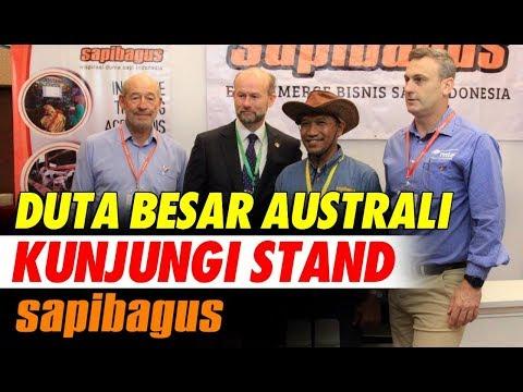 Duta Besar Australia Kunjungi Stan Sapibagus di Livestock EXPO 2018 Jakarta