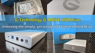 Unboxing the G-Technology G-DRIVE USB External Hard Drive