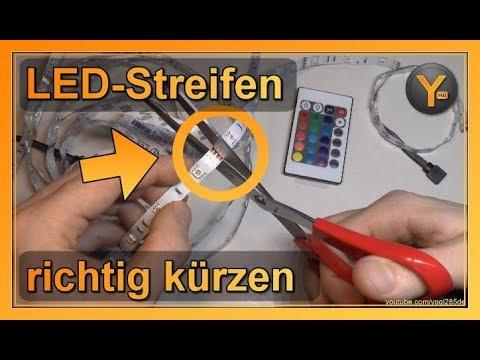 LED-Streifen richtig kürzen / abschneiden