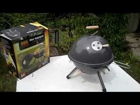 Kugelgrill Test Aldi BBQ - Minikugelgrill 12€ - 2015