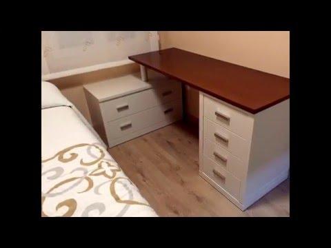 Mesa de estudio en madera maciza y de dise o moderno - Mesas de estudio de diseno ...