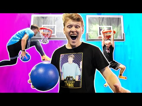 INSANE Trampoline Park Basketball Challenges!