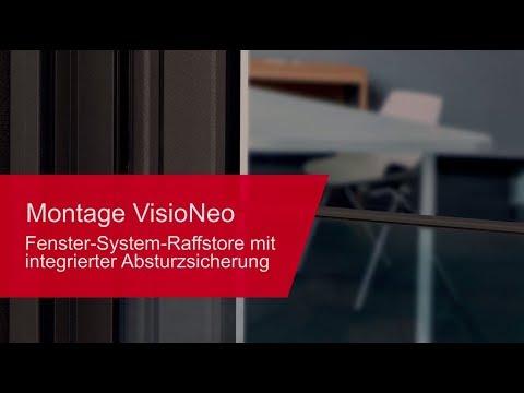 Montage Fenster-System-Außenjalousie mit integrierter Absturzsicherung