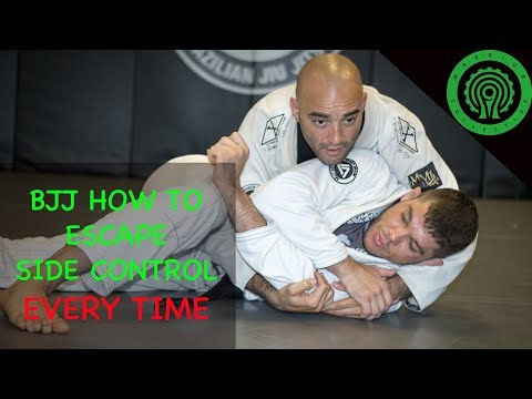 BJJ How to escape side control EVERY TIME Tutorial